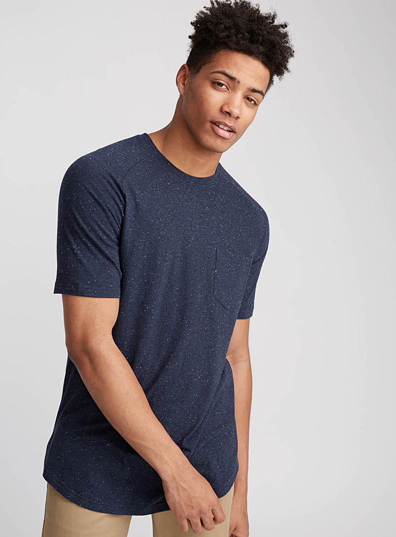 Longline essential T-shirt - Short sleeves & 3/4 sleeves - Marine Blue