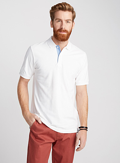 Organic cotton piqué polo