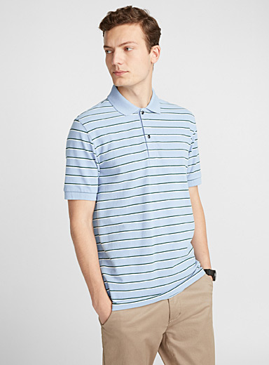 Twin-stripe piqué polo