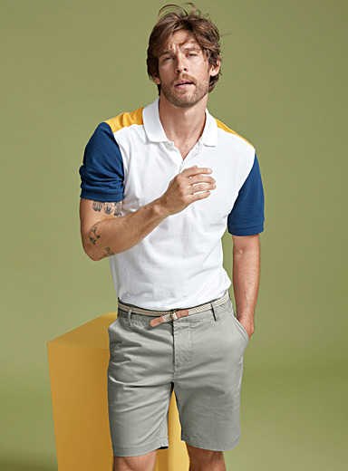 Accent block piqué polo