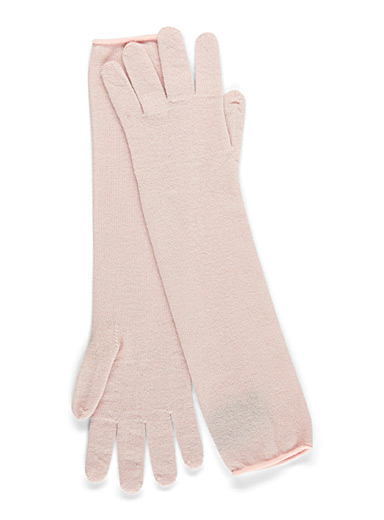 Long merino wool glove