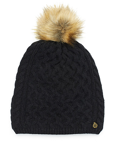 Cashmere touch knit tuque