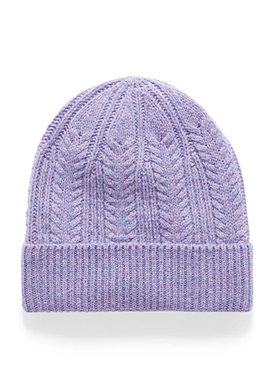 Simons Purple Pure wool knit tuque for women