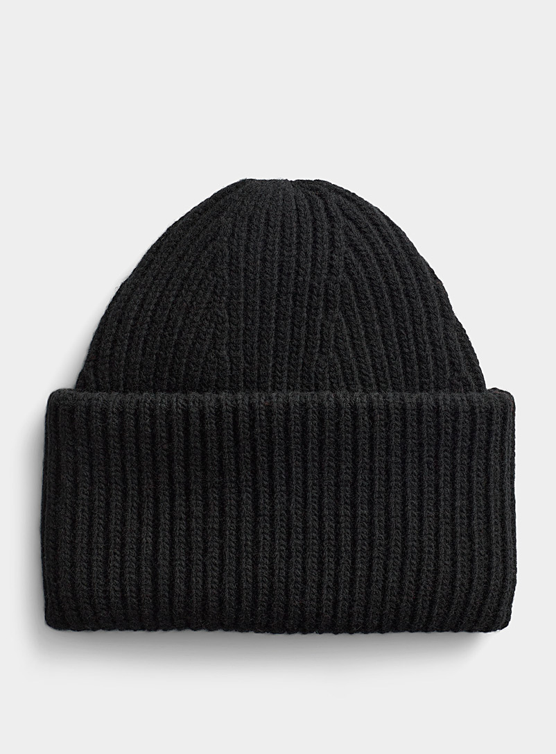 Pure wool XL cuff tuque