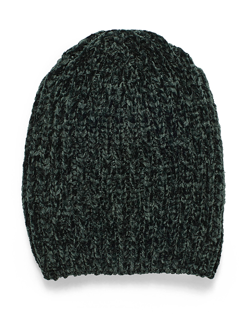 Chenille knit tuque - Tuques & Berets - Green