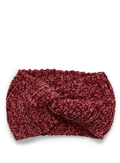 Twisted chenille knit headband