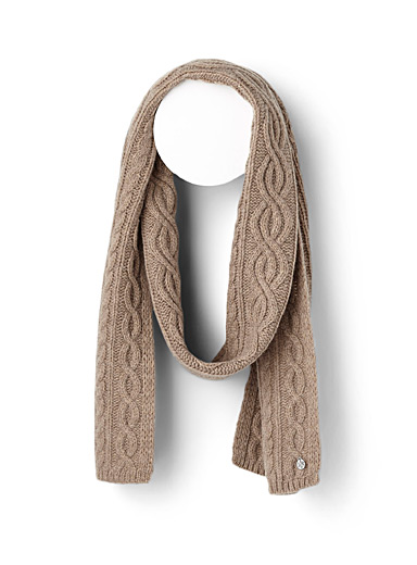 Cashmere touch knit scarf