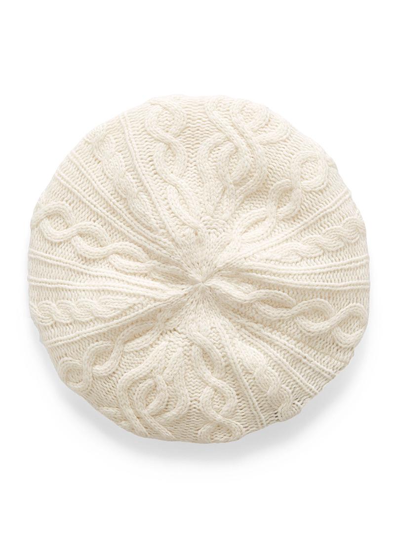 Cashmere touch knit beret - Touch of Cashmere - Ivory White