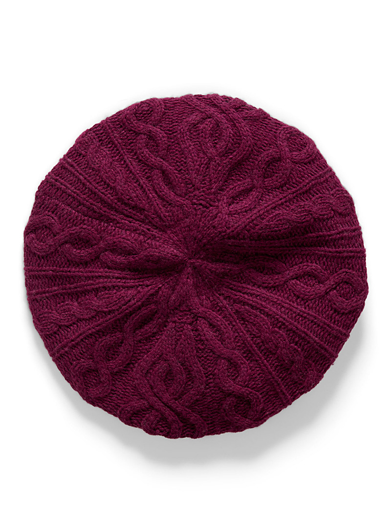 Cashmere touch knit beret - Touch of Cashmere - Ruby Red
