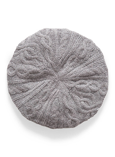 Cashmere touch knit beret
