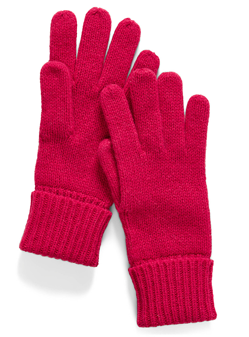 Essential knit gloves - Gloves - Bright Red
