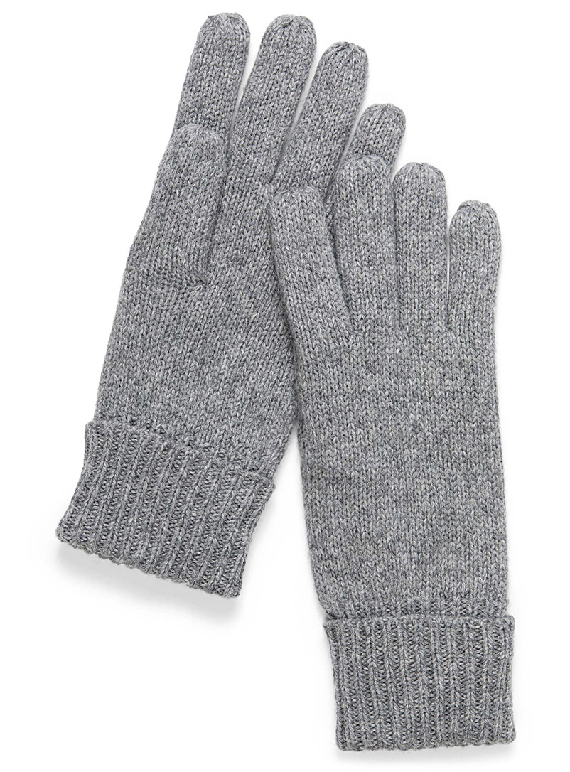 Essential knit gloves - Gloves - Silver