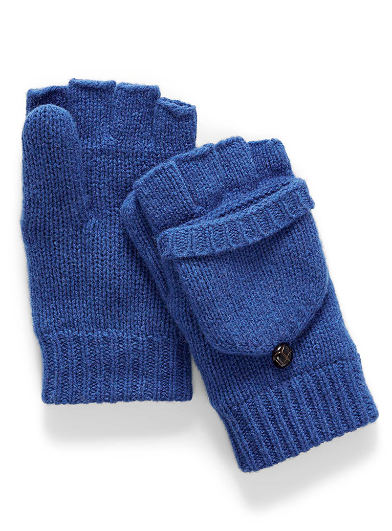 Simons Sapphire Blue Essential flip-top gloves for women