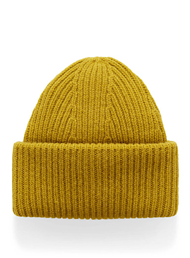 Pure wool XXL-cuff tuque