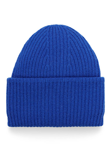Lambswool ribbed tuque