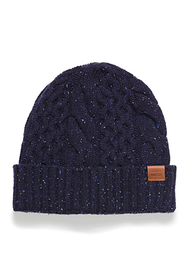 Flecked cable-knit tuque