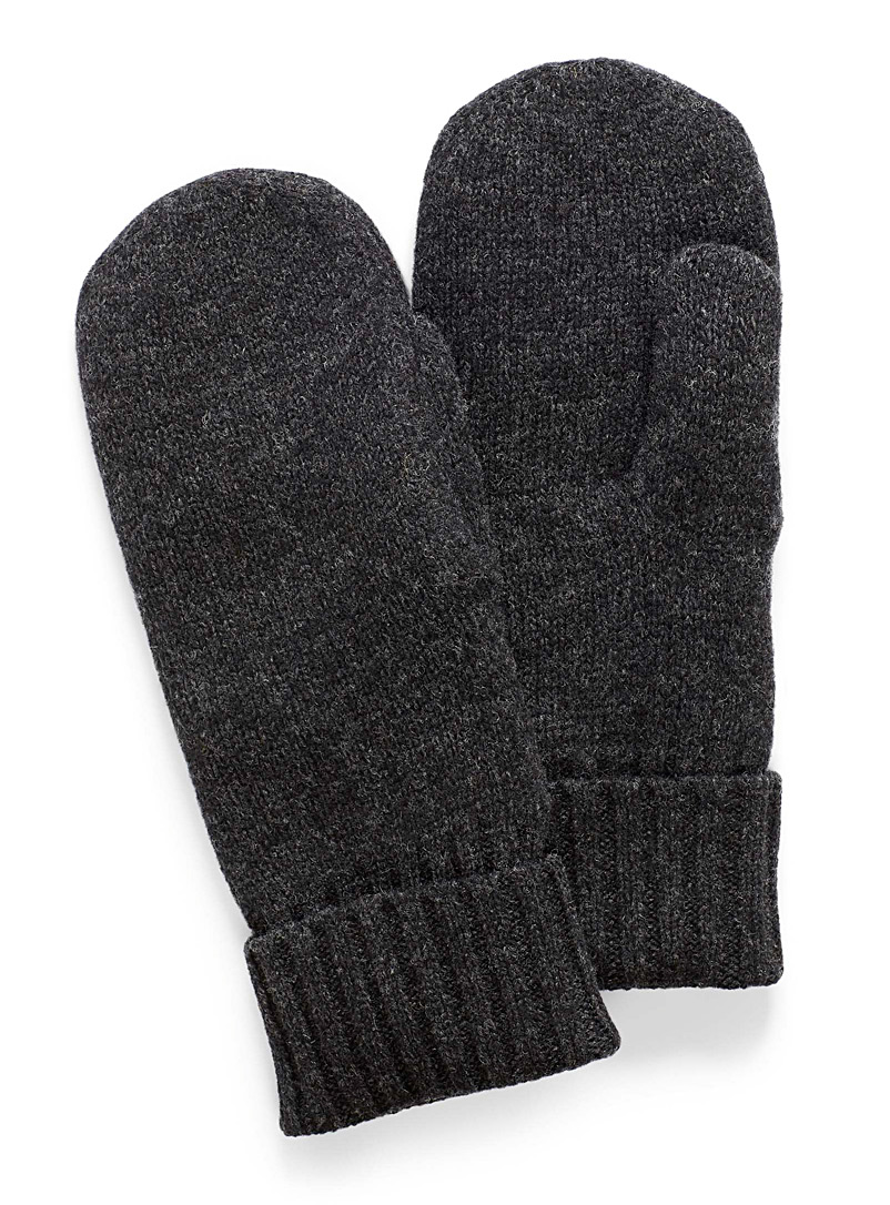 Pure wool knit mittens - Mittens - Oxford