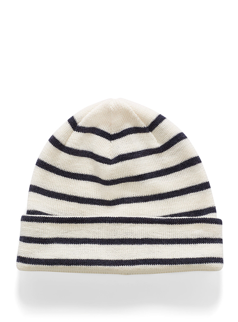 Nautical merino tuque - Tuques - Ivory White