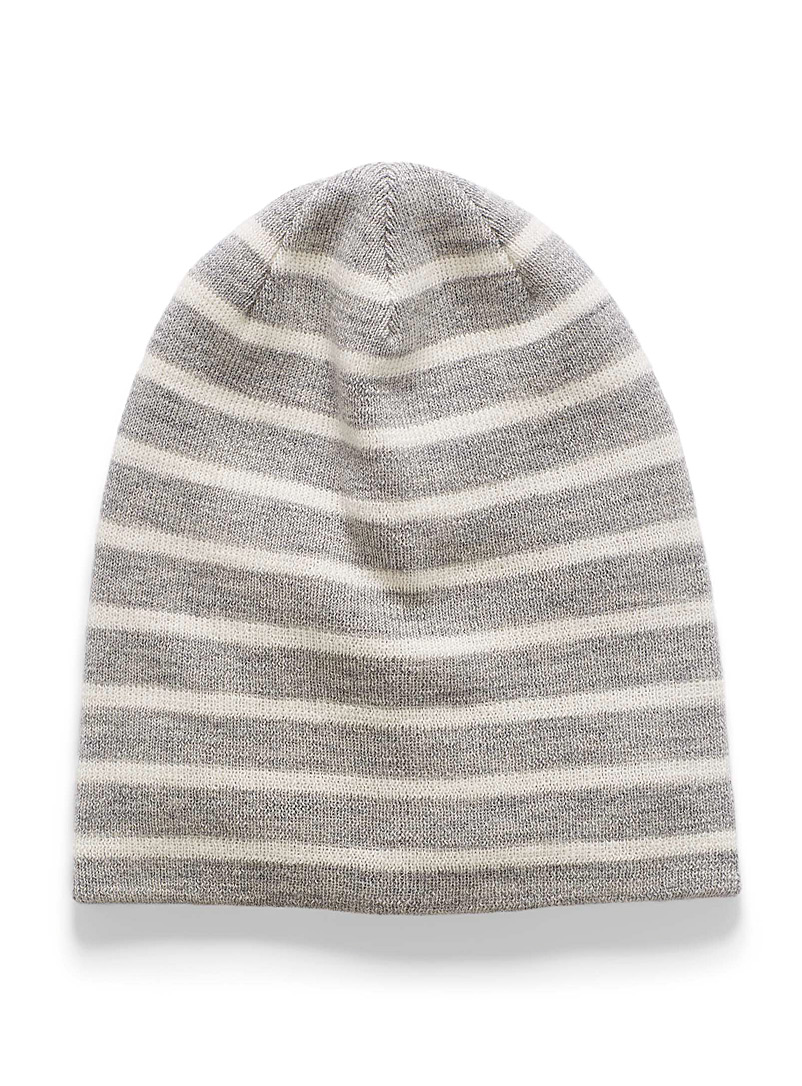 Nautical merino tuque - Tuques - Dark Grey