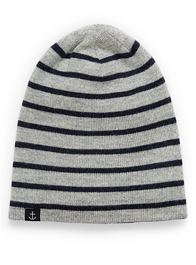 Nautical merino tuque