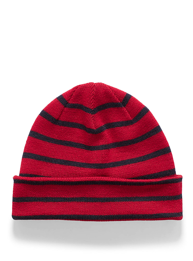 Nautical merino tuque - Tuques - Cherry Red