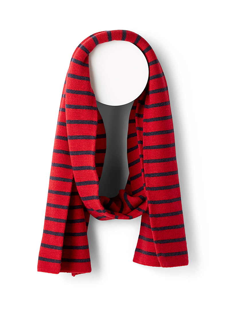 Nautical stripe scarf - Outdoor scarves - Cherry Red
