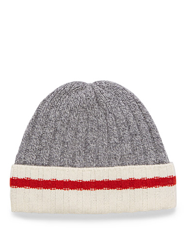 Cuffed wool work sock tuque