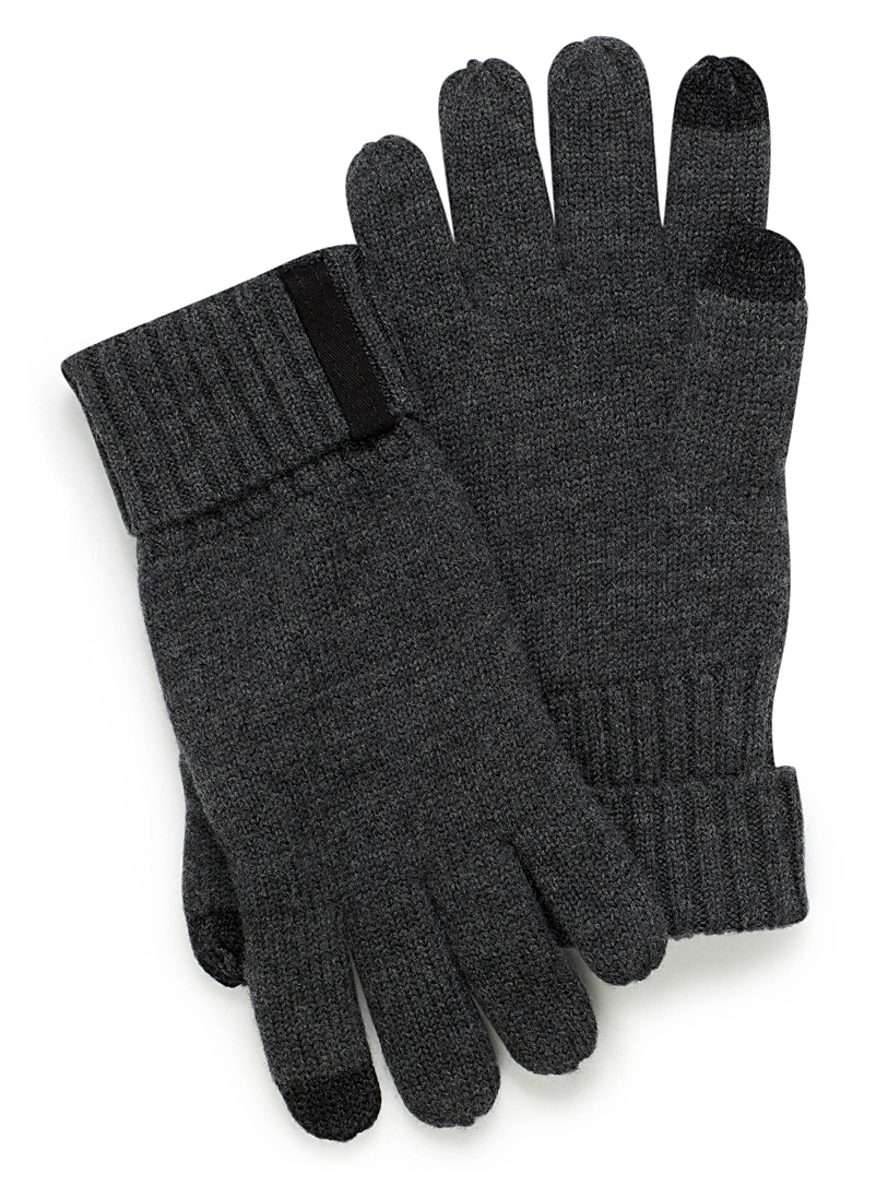 Merino wool touch screen gloves - Gloves - Charcoal