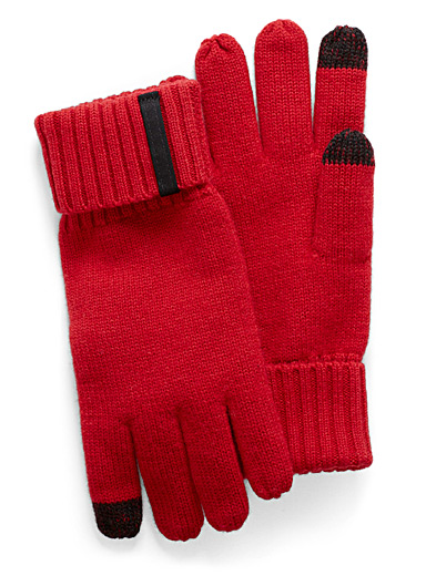 Merino wool touch screen gloves