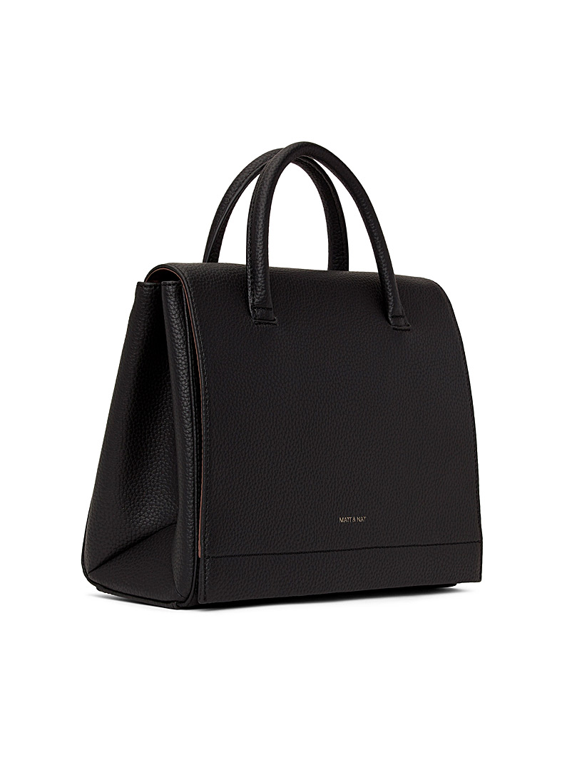 Matt & Nat Black Adel PURITY satchel for women