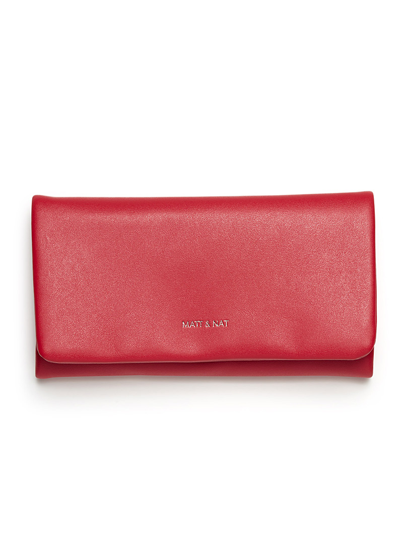 Verso supple wallet - Canadian Brands - Red