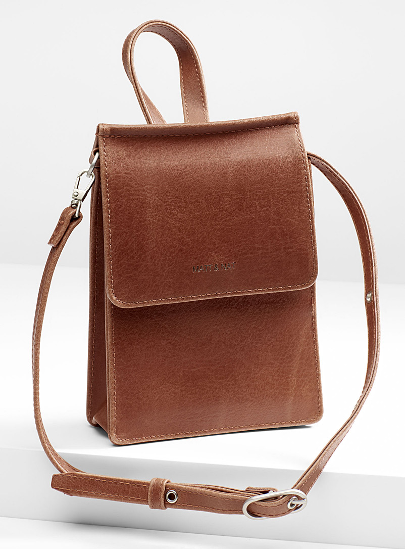 Thessa shoulder strap clutch - Clutches and Minaudieres - Brown