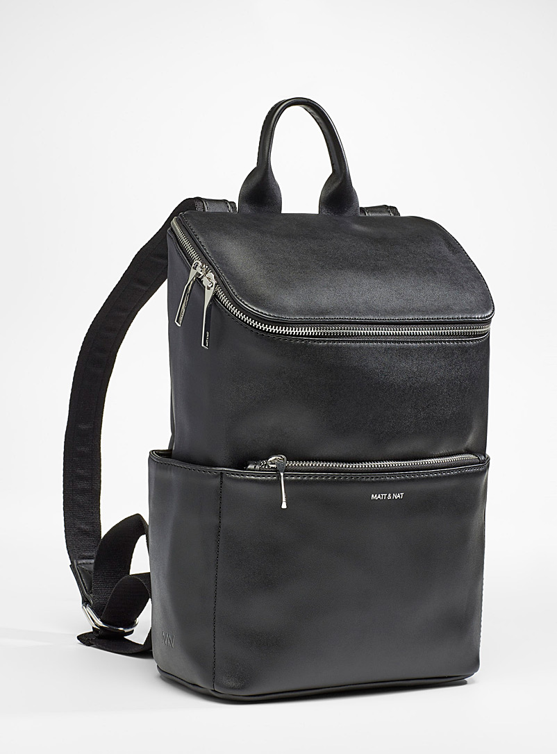 Matt & Nat Charcoal Brave boxy backpack for women
