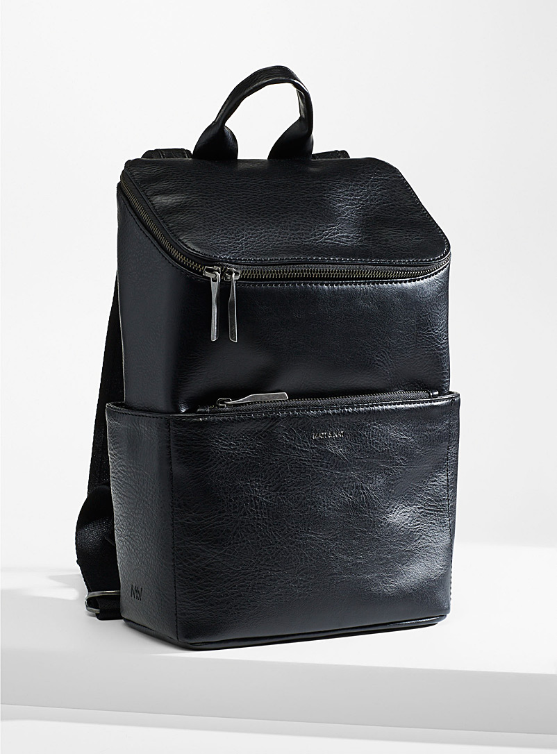Matt & Nat Black Brave boxy backpack for women
