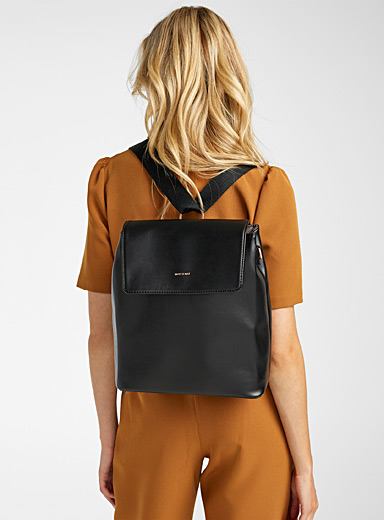 Matt & Nat Black Annex convertible backpack for women