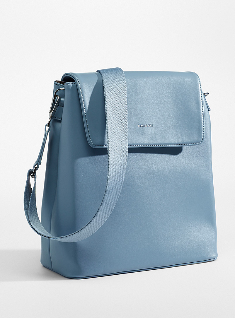 Matt & Nat Baby Blue Annex convertible backpack for women