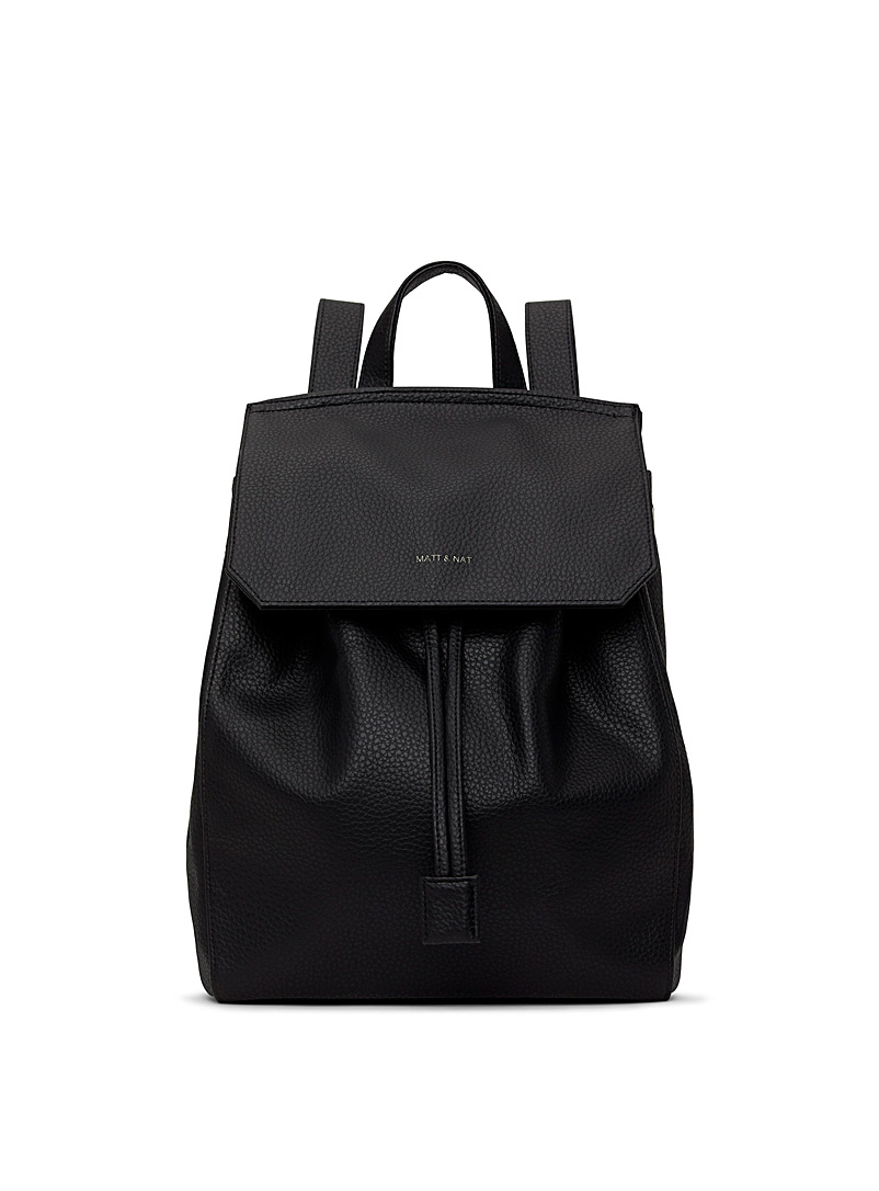 Matt & Nat Black Mumbai PURITY backpack for women