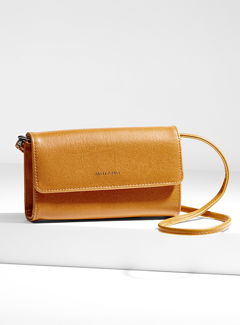 Drew mini clutch - Clutches and Minaudieres - Golden Yellow