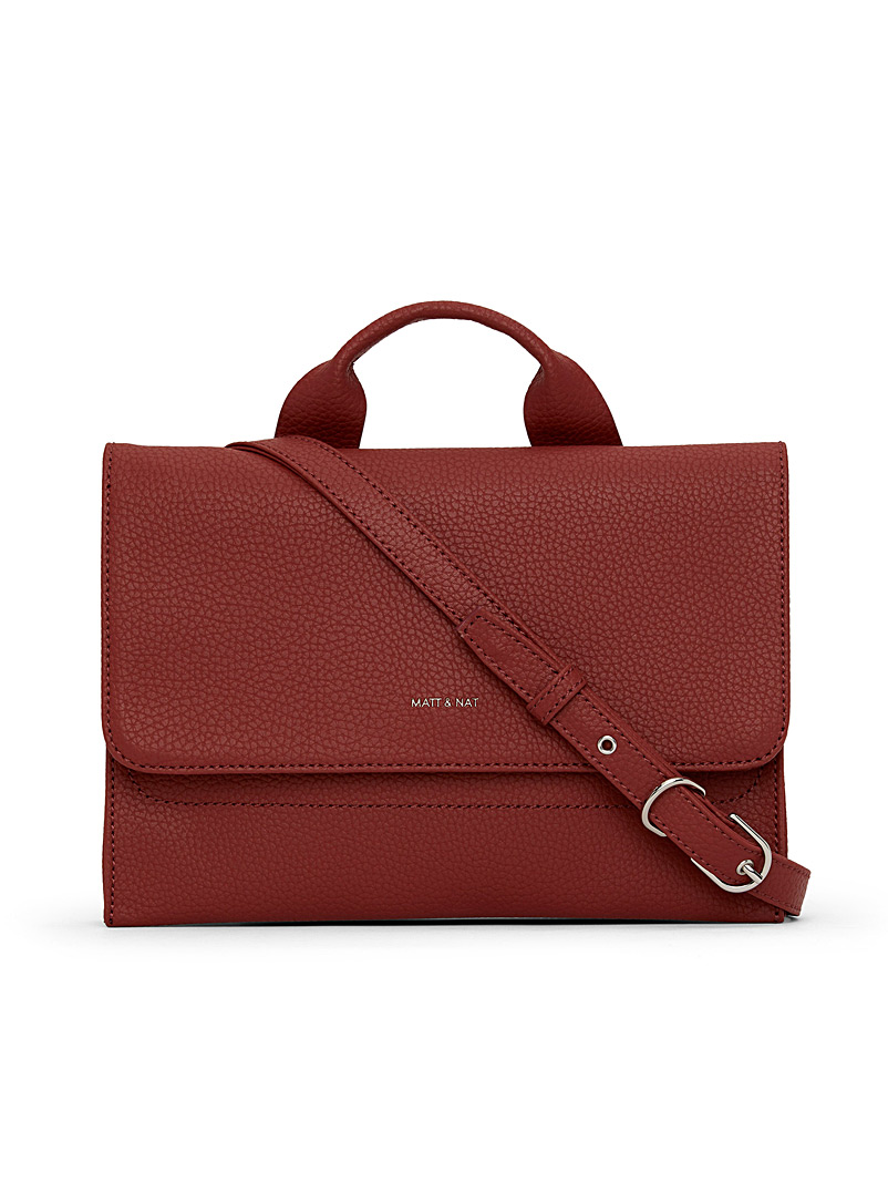 Matt & Nat Ruby Red Sira PURITY handbag for women