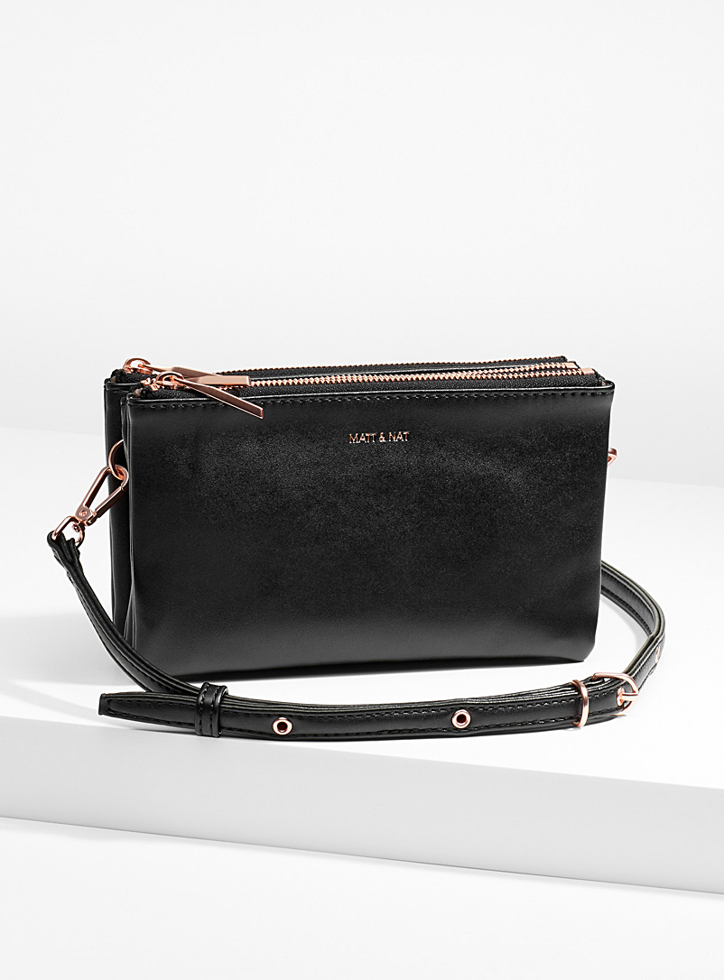 Matt & Nat Charcoal Triplet crossbody bag for women