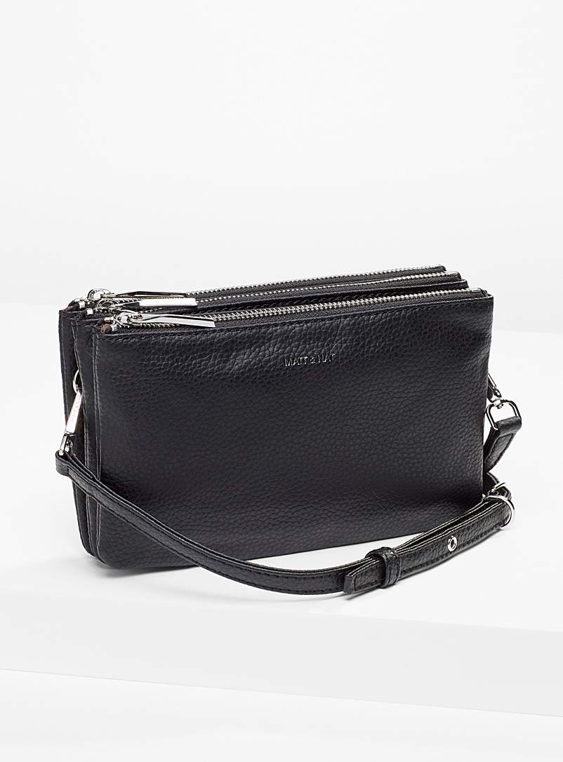 Matt & Nat Black Triplet PURITY shoulder bag for women
