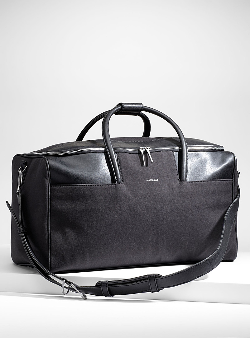 Matt & Nat Black Zam weekend bag for men
