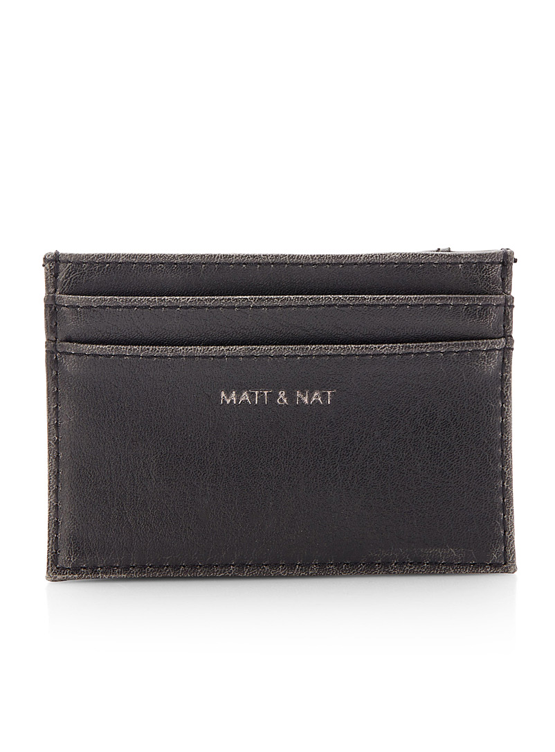 Matt & Nat Black Max distressed card holder for men