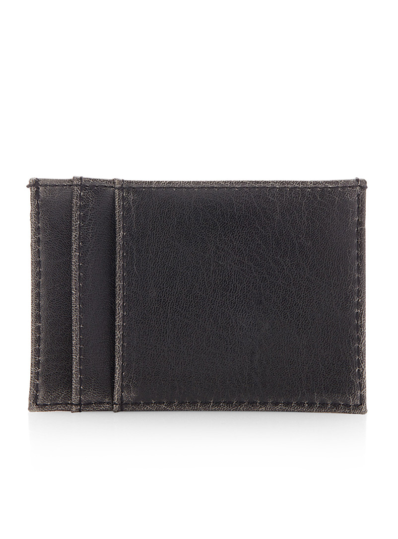 Max distressed card holder - Wallets - Black