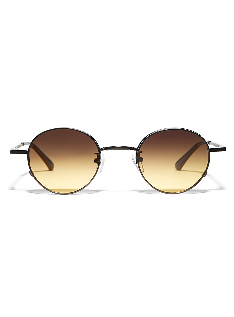 Eddon round sunglasses - Designer - Brown