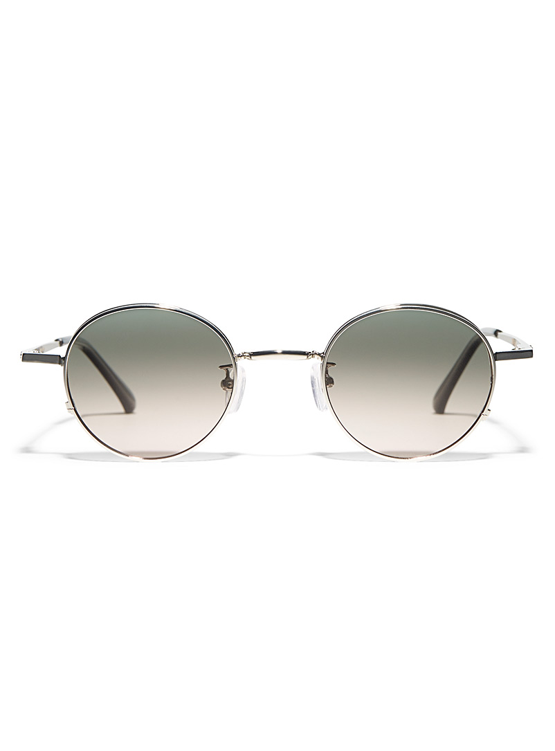 Matt & Nat Silver Eddon round sunglasses for women