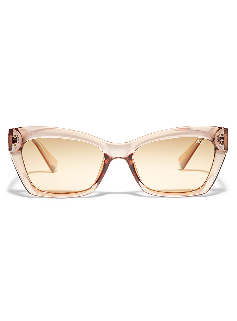 Matt & Nat Cream Beige Isla rectangular sunglasses for women