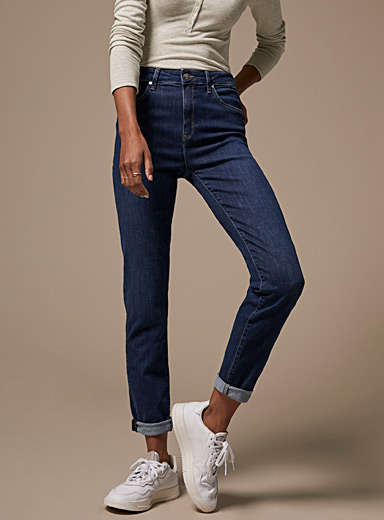 Mavi Jeans Marine Blue Lea high-rise boyfriend jean for women