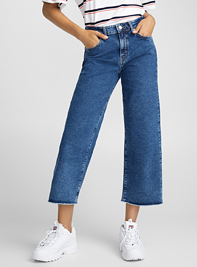 Le jeans taille haute large Romee