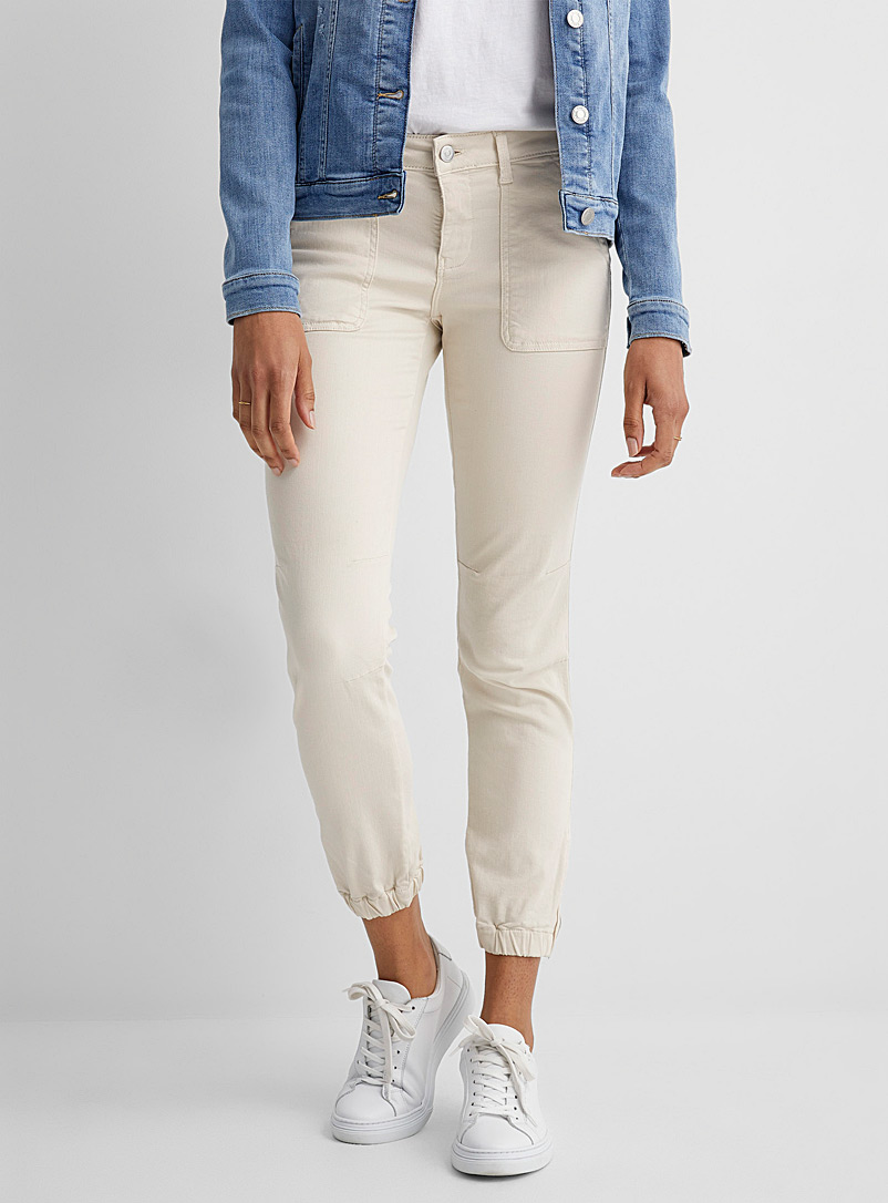 Mavi Jeans Ivory White Ivy cargo pant for women